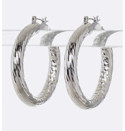 Silver chunky loops