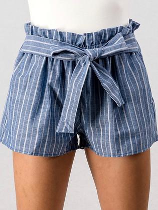 Tie shorts blue