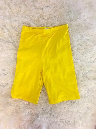 Yellow biker shorts