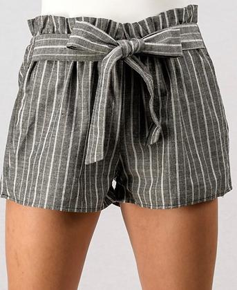 Tie shorts black