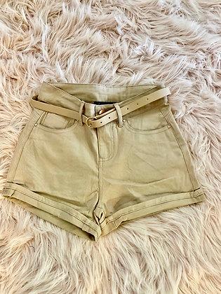 Khaki casual shorts