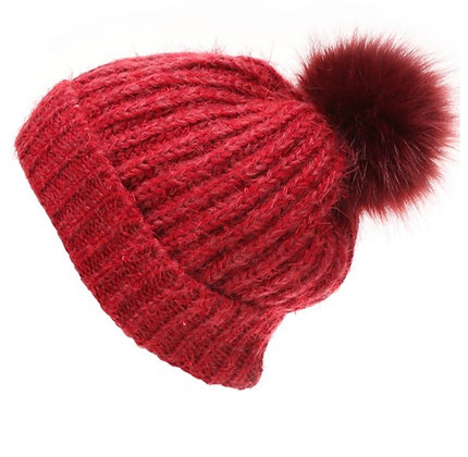 Single Puff ball hat