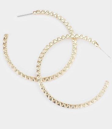 Gold basic hoop