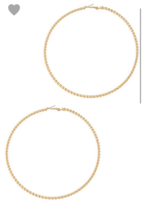 Gold spiral metal hoops