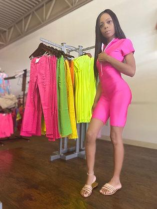 Pink jumpsuit onesie