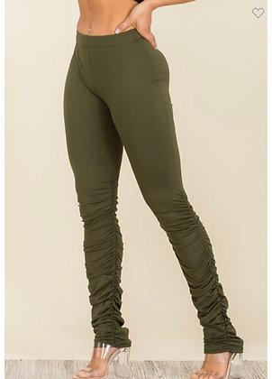 Olive stacked legging