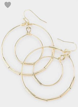 Gold open earrings
