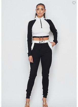 White/black two piece set