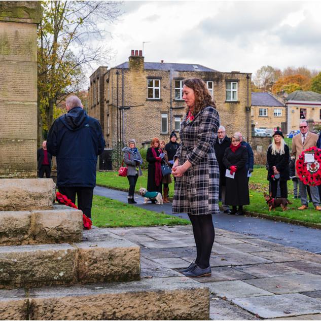 Remembrance Ceremony 2019, Holmes Park, Luddenden Foot