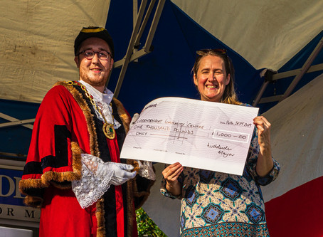 Mayor Making @ Luddenden Village & a £1K Donation ....