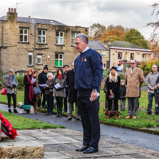 Remembrance Ceremony 2019, Holmes Park, Luddenden Foot
