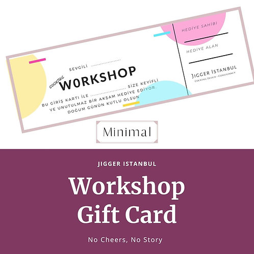 Workshop Hediye Kartı -Minimal