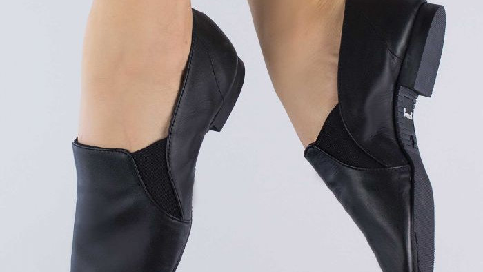 1st Position Side Gusset Slip on Full Sole Jazz Shoe
