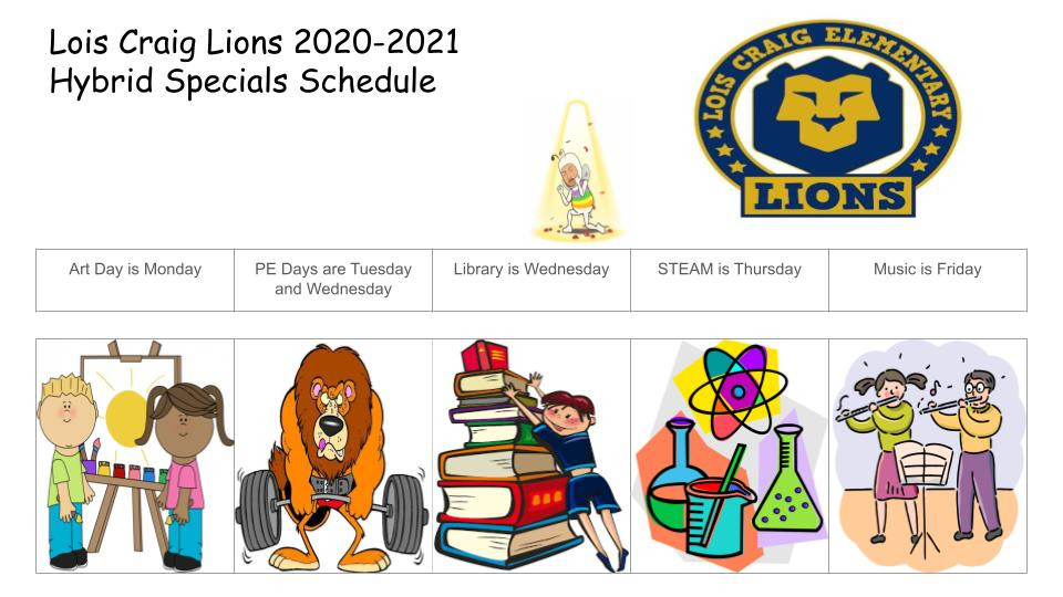 Specials Hybrid Schedule Lois Craig-2021