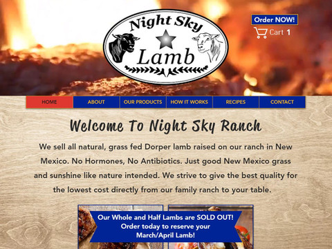 Night Sky Lamb