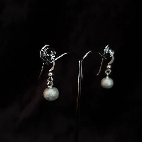 Ohreinhänger kleine Silberkugel