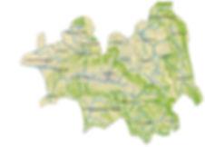 carte du territoire des centrales villageoises de la Lance et communauté de communes Dieulefit-Bourdeaux
