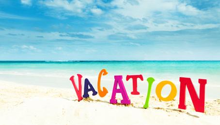 Vakantie sluiting