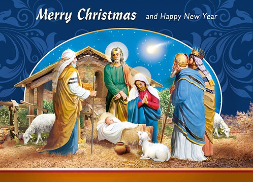 Merry Christmas Happy New Year Card A5N