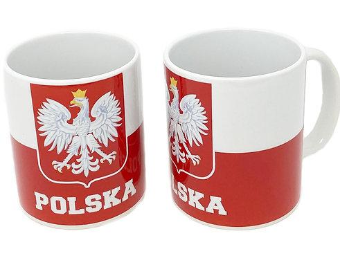Kubek Polska  Z Polska Flaga I Orlem