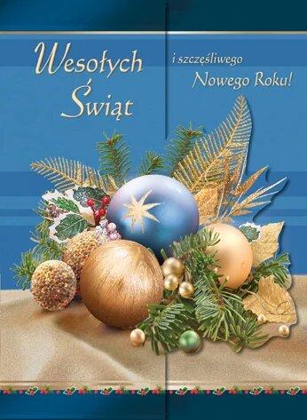 Kartka Na Boze Narodzenie Swiecka B6W