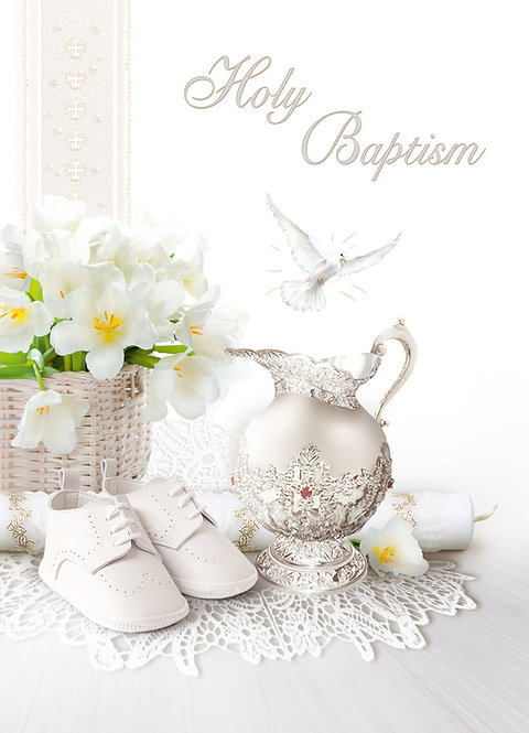 Holy Baptism Card A5N