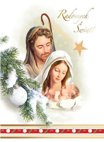 Religious Christmas Card B6