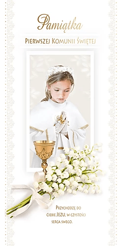 First Communion Card DL