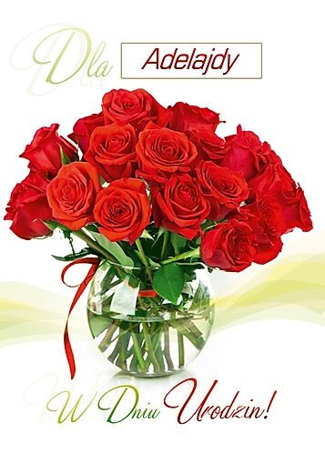 Kartka W Dniu Urodzin Dla Kobiety A5SI