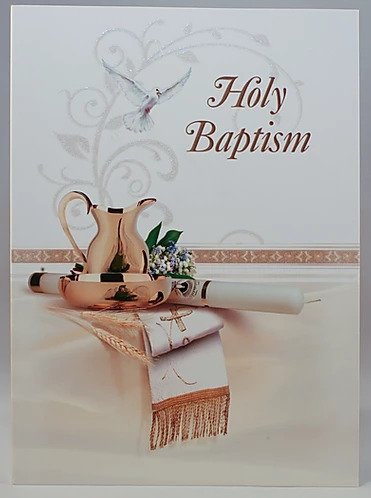 Holy Baptism Card A5