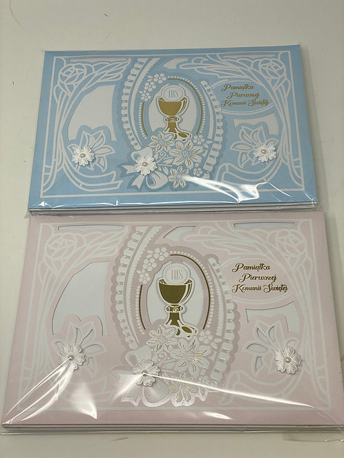 First Communion Card Azur Nowy Index 5165