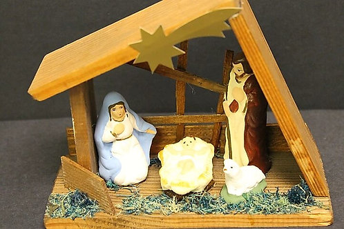 Wooden Christmas Crib