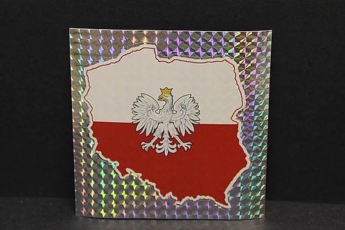 Poland Map White Eagle Sticker