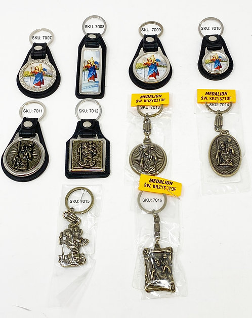 Keychains Saint Christopher The Patron Of Drivers