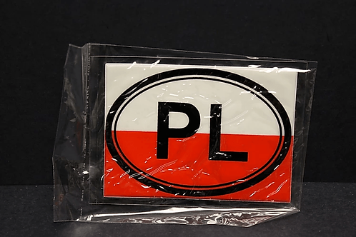 Large Polish Flag PL Sticker
