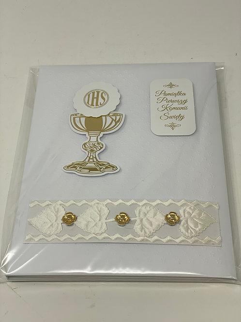 First Communion Card Album Pasmanteria Index 5176