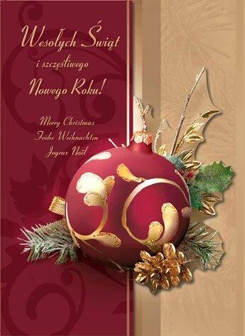 Secular Christmas Card B6W