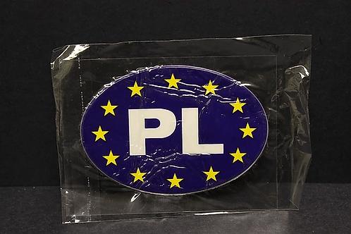Large Euro Flag PL Sticker