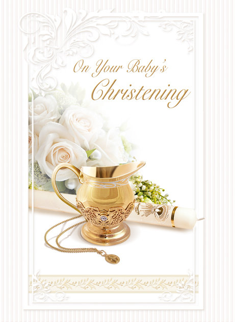 On Your Baby's Christening Card B6L