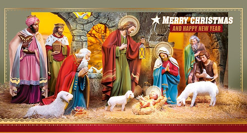 Merry Christmas Happy New Year Card DL