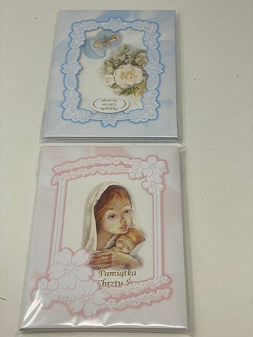 Holy Baptism Card Small Album A5 Index 1140