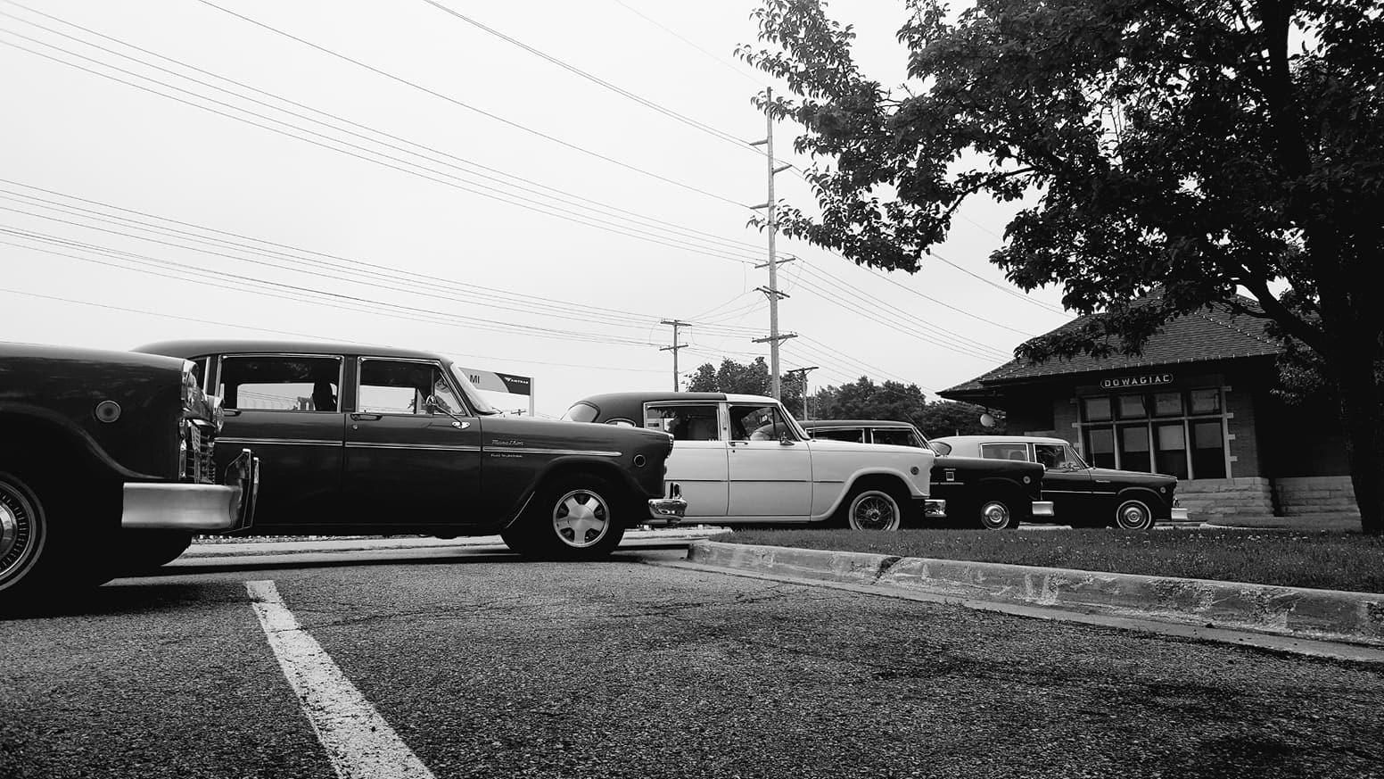 Dowagiac Cars black and white