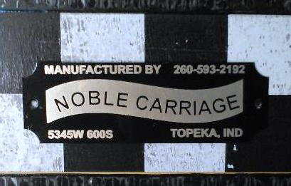 Noble Carriage Plate
