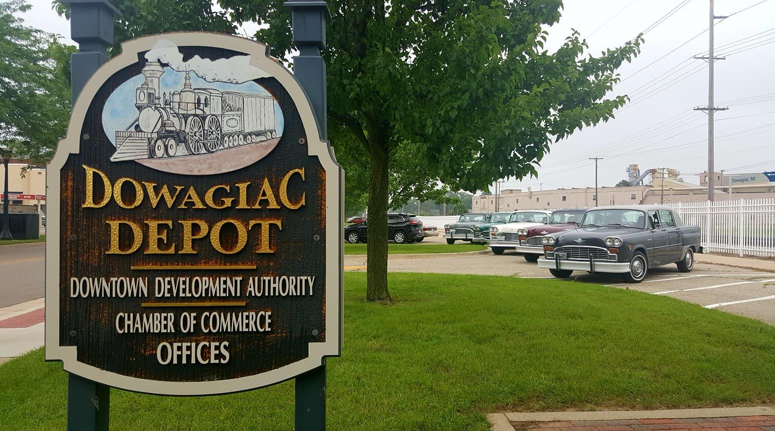 Dowagiac Depot Sign
