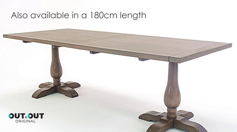 Balmoral rectangular table set advert