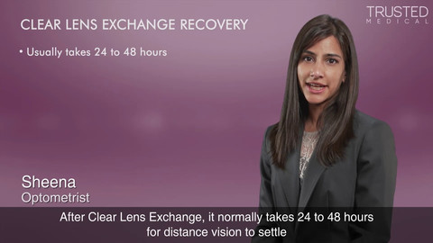 What is the recovery time for Clear Lens Exchange?