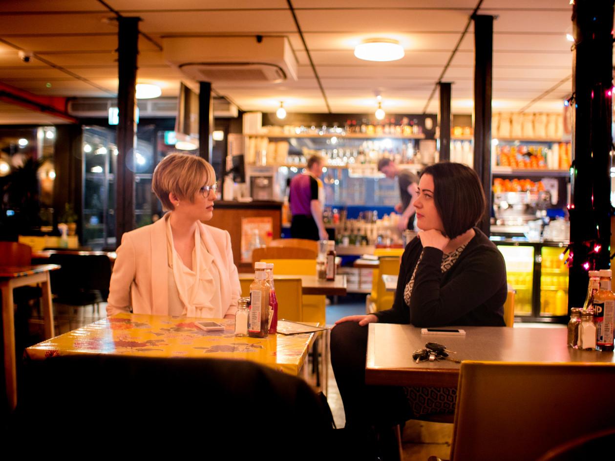 Emma and Kayleigh in Breakfast club 2.jp