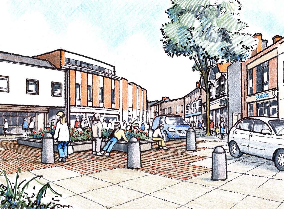 Wokingham Proposed Town Centre Illustration