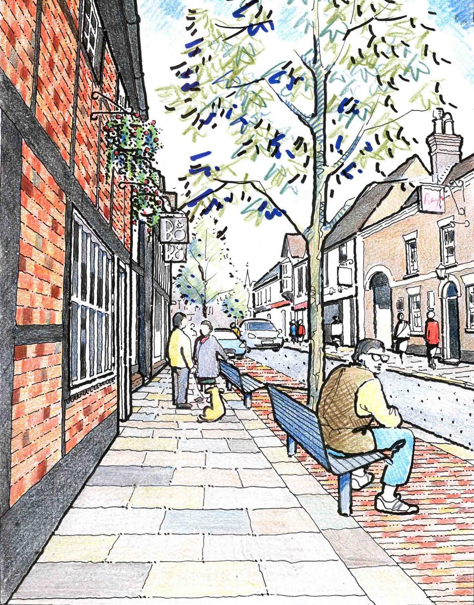 Wokingham Proposed High Street Illustration