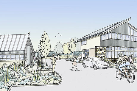 """Proposed """"green"""" business park development and associated landscape"""